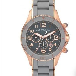 Marc Jacobs Quartz Rose Gold & Grey Silicone Watch